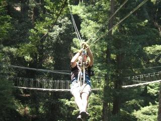 3rd Anniversary Brendan Zip lining Mt Hermon, CA